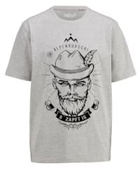 T-shirt med tryckt motiv