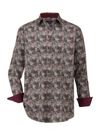 Chemise à motif mode devant et dos