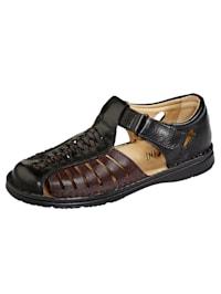 Sandales de coloris harmonieux