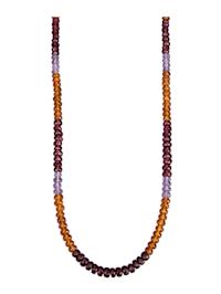 Collier avec pierres de couleur