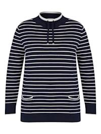Pullover mit geringeltem Muster und langen Ärmeln