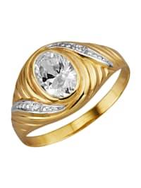 Ring i gullfarget metall, 333