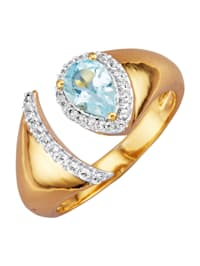 Ring i guldfärgat silver 925