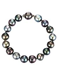 Armband av Tahiti-pärlor i barockform