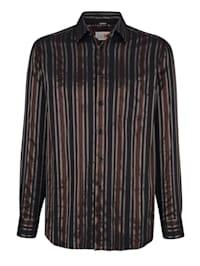 Chemise de soirée à rayuresmétallisées