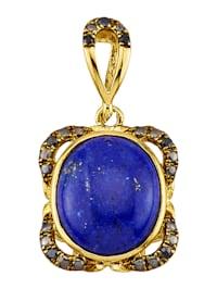 Hanger met lapis lazuli en synth. zirkonia