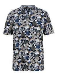 T-shirt met bijzondere opstaande kraag