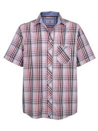 Chemise à motif carreaux