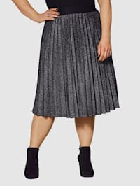 Plisé sukňa z lesklého materiálu