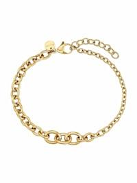 """Armband für Damen, Stainless Steel IP Gold, Fantasiekette 16+3 cm """"Irregular Link"""" von NOELANI"""