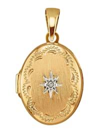 Medaljonkiriipus, jossa kuutiollinen zirkonia