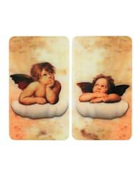2er-Set Herdabdeckplatten 'Raphael Engel'