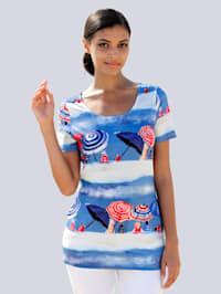 Strandshirt mit sommerlichem Druck