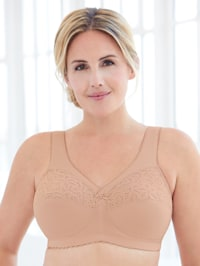 Magic lift bra with supportive wiring