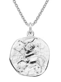 Sternzeichen Schütze Ø 20 mm und Halskette 925 Silber