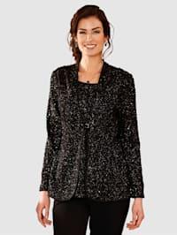 2-in-1-blouse van soepelvallend materiaal