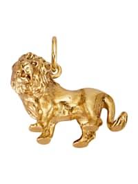 Lejonhänge av guldfärgat silver 925