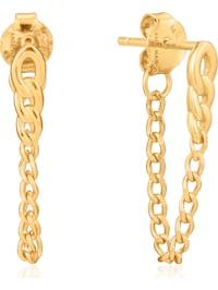 Ania Haie Damen-Ohrstecker Curb Chain Stud Earrings 925er Silber