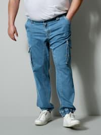 Jean cargo de coupe spéciale avec taille élastiquée côtés
