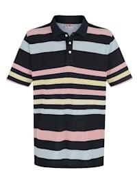 Poloshirt met jacquard-streeppatroon
