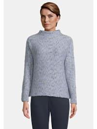 Grobstrick-Pullover mit Fledermausärmeln