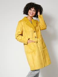 Keerbare jas met platte kraag