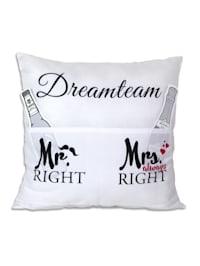 Kissen mit Taschen Dreamteam