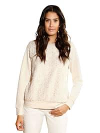 Sweatshirt mit Fellimitateinsatz