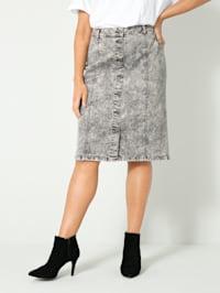 Džínsová sukňa v Moonwashed vzhľade