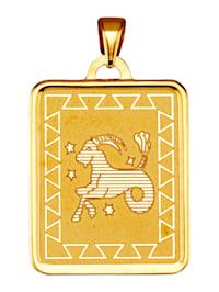 """Pendentif signe du zodiaque """"capricorne"""" en or jaune 375"""