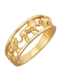 Löwen-Ring in Gelbgold 585