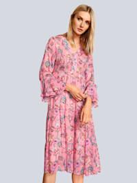 Kleid im farbenfrohen Blumendruck