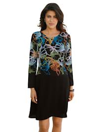 Kleid mit buntem floralem Muster