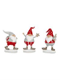 Set van 3 kerstmannen