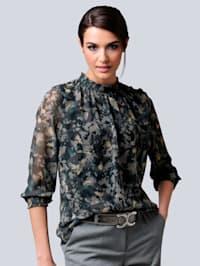 Bluse im exklusivem Dessin von Alba Moda