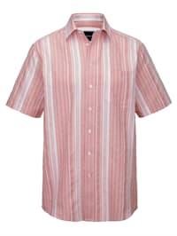Seersuckerhemd mit garngefärbtem Streifenmuster