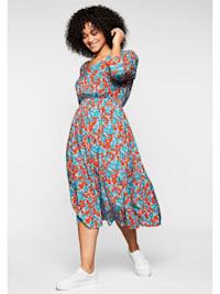 Kleid aus fließender, kühlender Viskose
