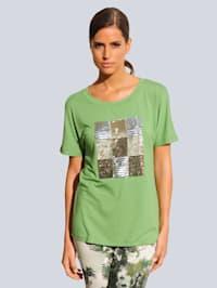 Strandshirt mit verschiedenfarbigen Pailetten