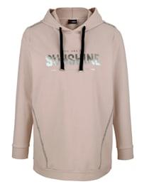 Sweatshirt med folietryck