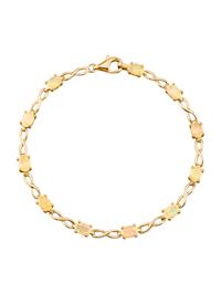 Hopeinen opaalirannekoru, kullanvärinen pinnoite