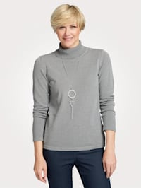 Polo neck jumper made from a soft fabric blend