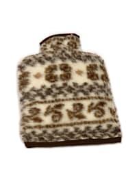 Wärmflaschenbezug Wolle 20/30 cm