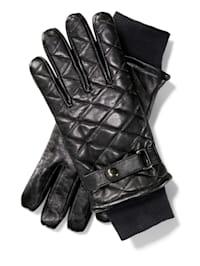 Leren handschoenen met fleece voering