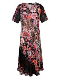 Keerbare jurk 1x animal/gebloemd en 1x gebloemd