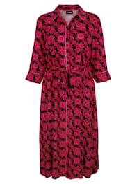 Šaty s modernou retro potlačou