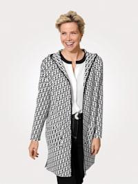 Dlouhý svetr z jakostní žakárové tkaniny