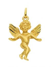 Damen Goldschmuck 585 Gold Anhänger Engel
