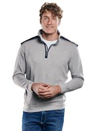 Sportives Sweatshirt mit Stehbund