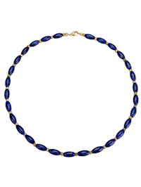 Halsband med lapis lazuli och pyrit