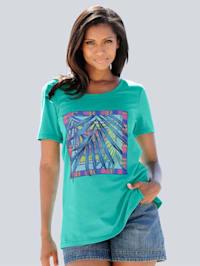 Strandshirt met print voor